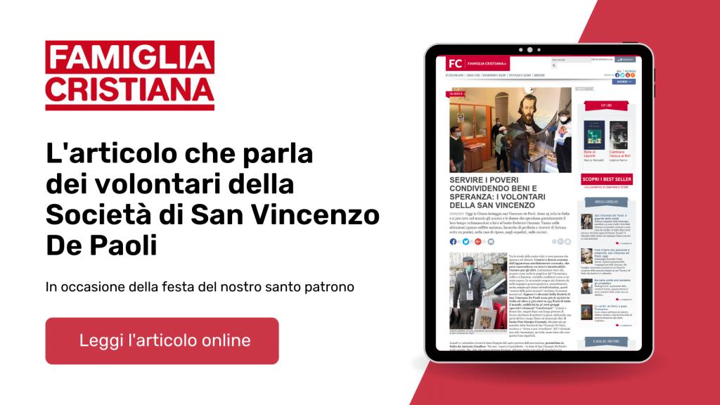 Famiglia Cristiana dedica un articolo ai volontari della Società di San Vincenzo De Paoli (Alessandro Ginotta)